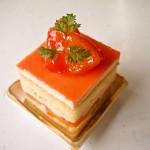ブラッドオレンジのショートケーキ